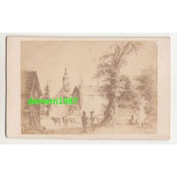 CdV Foto Garbenheim bei Wetzlar um 1870 Werther - Linde ! (F1666