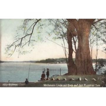 AK GRUSS AUS NEU RUPPIN KR OSTPRIGNITZ WICHMANN LINDE MIT RUPPINER SEE 1906 col.