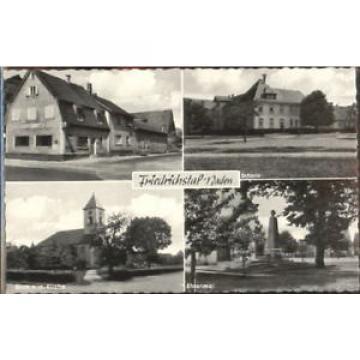 40186833 Friedrichstal Stutensee Schule Wirtschaft zur Linde ungelaufen ca. 1955