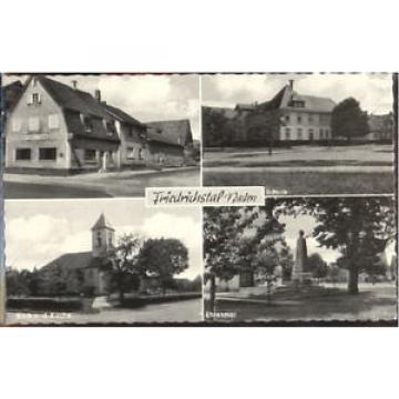 40186832 Friedrichstal Stutensee Schule Wirtschaft zur Linde ungelaufen ca. 1955