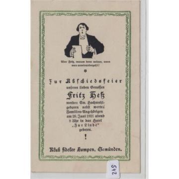 542, Berlin Dreibunbstraße Einladung 28 Juni 1921 Hotel zur Linde !