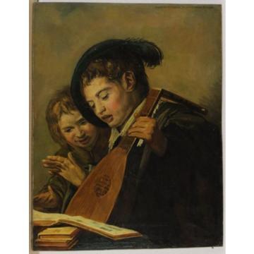 Signé J. v. du Linde Jr Musizierende Enfants Art des Rembrandt ou Hals ?