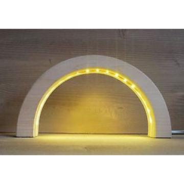 LED Arcos Linde tallado en madera 24,5 cm Arco de luces NUEVO Erzgebirge Seiffen