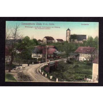 108912 AK Niederlinda Linda O.-L. Schlesien Nieder Linde 1910 Ort Kirche Dorfstr