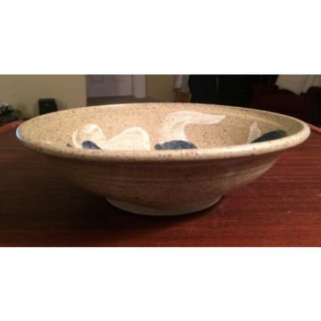 Hawkdancing Stoneware Salt Glazed Hand Thrown Bowl. Artist Signed by Nils Linde