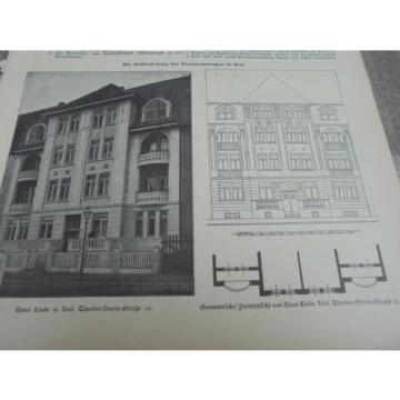 1908 Baugewerkszeitung 98 / Haus Linde Kleinwohnungen in Kiel