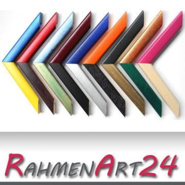 Bilderrahmen Fotorahmen Massivholz Linde Schmal 28x35 in verschiedenen Farben