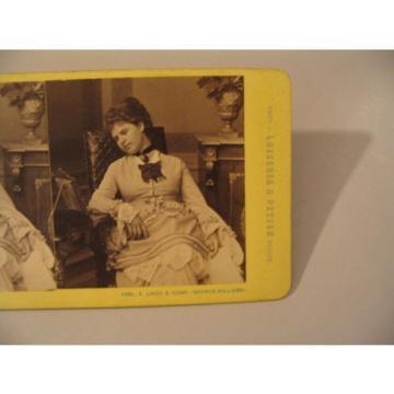 Woman Stereoview Photo cdii Loescher Petsch E Linde Sophus Williams Longing