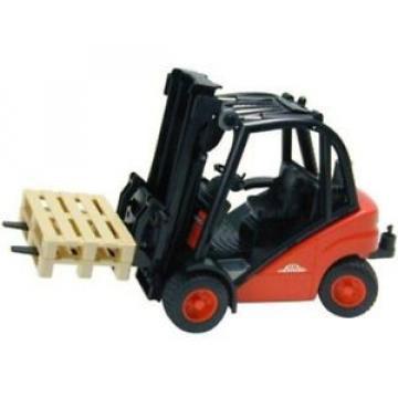 Bruder #02511 Linde H30D Forlift with 2 Pallets  -New-Factory Sealed!