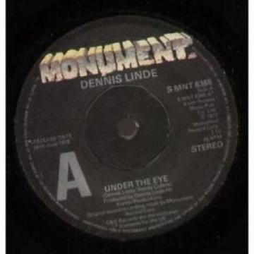 "DENNIS LINDE Under The Eye 7"" VINYL UK Monument 1977 Promo B/W Lookin At Ruby"