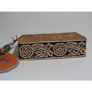 Rayher Naurholzstempel für Textil und Papierdrucke, Block Wallah, Shesham Holz