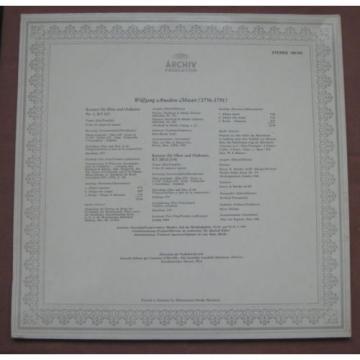 Mozart -  Linde, Holliger Flute and Oboe concerto ARCHIV LP