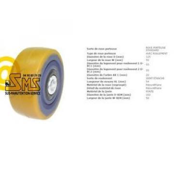 LINDE FENWICK ROUE STABILISATRICE 125 54 50 20 mm TRANSPALETTE GERBEUR L16