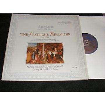 ARCHIV Made Germany DG LP 17th Century Music For A Banquet HANS-MARTIN LINDE 70s