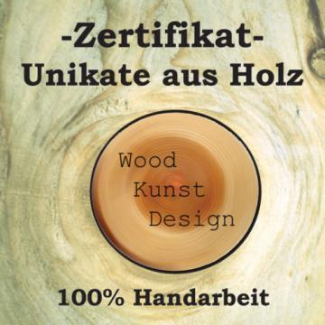 Couchtisch / Beistelltisch, Masivholzscheibe, 47 cm x 35 cm,Linde,Unikat