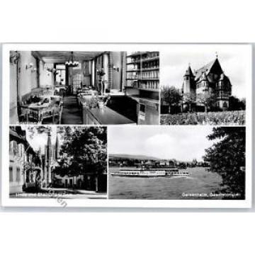 51408277 - Geisenheim , Rheingau Gasthaus Eisenbahn Linde Rheingauer Dom Schloss