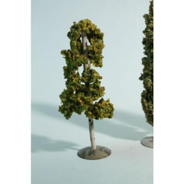 alte Faller Lot 5 Bäume - 3 Pappeln / Linde / Birke - Metallsockel