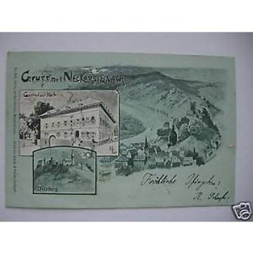 AK Neckarsteinach 1899 Gasthaus zur Linde Dilsberg