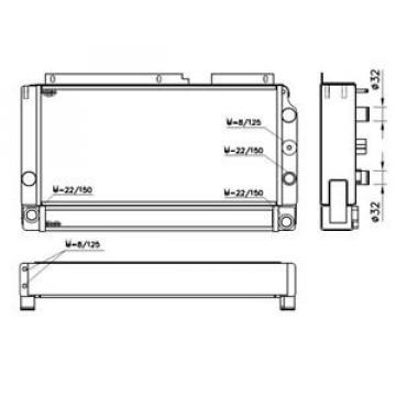 Radiatore acqua - motore - LINDE FORKLIFT 35001 H12H18D 52080