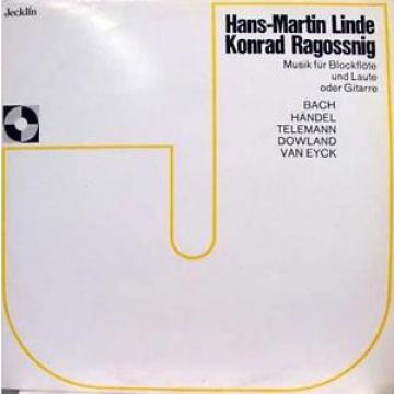 LINDE RAGOSSNIG musik fur blockflote und laute oder gitarre LP Mint- D 525