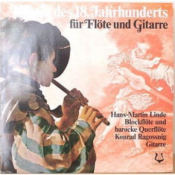 18TH CENTURY MUSIC FOR RECORDER & GUITAR-M1986LP GERMAN IMPORT Linde/Ragossnig