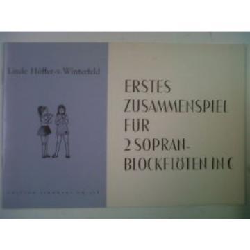 recorder ERSTES ZUSAMMENSPIEL Linde Hoeffer Winterfeld