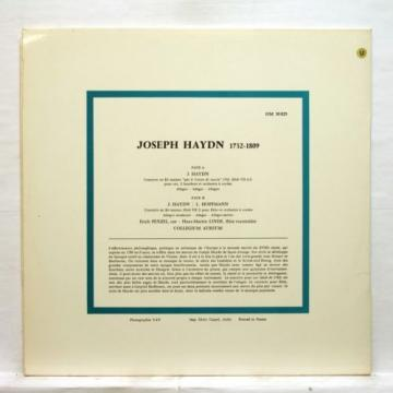 FJ MAIER, LINDE - HAYDN flute & horn concertos HARMONIA MUNDI LP EX++