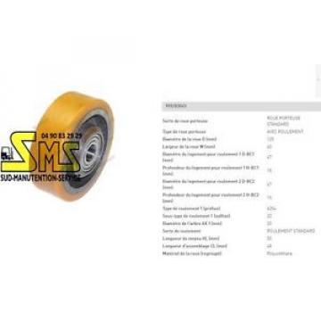 LINDE FENWICK ROUE STABILISATRICE 125 40 50 20 mm TRANSPALETTE GERBEUR