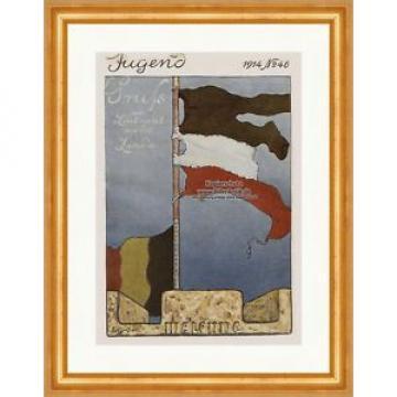 Titelseite der Nummer 46 von 1914 Fritz Erler Fahne Leutnant Linde Jugend 3981