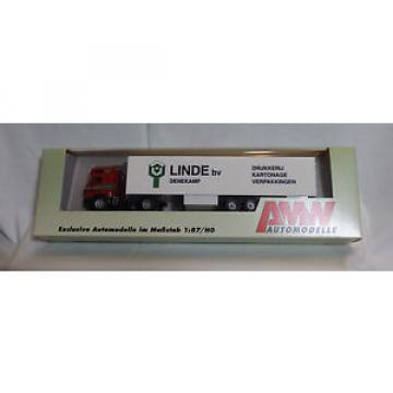 1: 87  H0 - AWM / AMW  - 56212 MB SK Linde bv Denekamp Holland NL Koffer-Sattelz