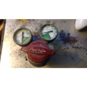 Linde Air Products Prest-O-Lite Type R-412 Vintage Oxygen Regulator Gauges