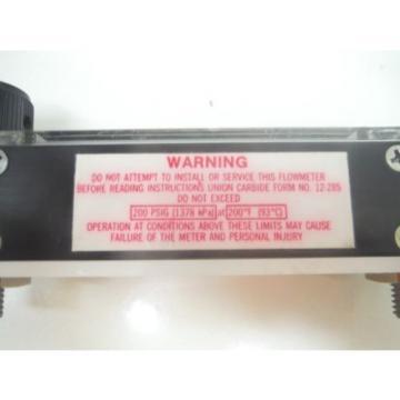 Linde  Union Carbide Flowmeter U.C.C FM4343