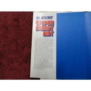 SUPER ENERGY DIET  BY  DR. ATKINS & LINDE ( HARDCOVER BOOK ) #
