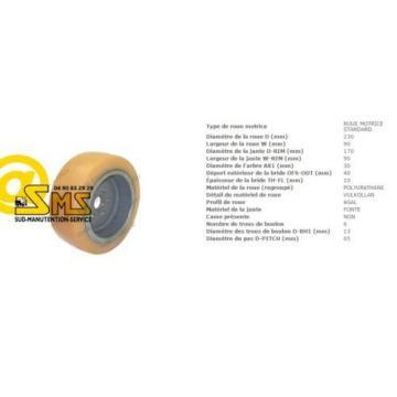 ROUE MOTRICE VULKOLLAN 0039902320 TRANSPALETTE XA16 LINDE FENWICK 230 90 mm