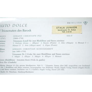 FLAUTO DOLCE Telemann/Schickhardt/Pez CONRAD/LINDE/KOCH Barenreiter BM30L1510 NM