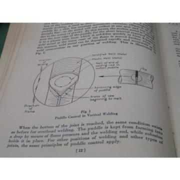 Vintage FABRICATION OF WELDED PIPING 4th ed - 1937 LINDE Union Carbide -FREESHIP