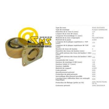 ROUE PIVOT STABILISATEUR LINDE FENWICK T20AP N°141 N20N N° 145 PIECES DETACHEES