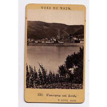 CDV - PHOTO - ALLEMAGNE - Panorama LORCH - E. Linde - Vues du Rhin, vers 1880.