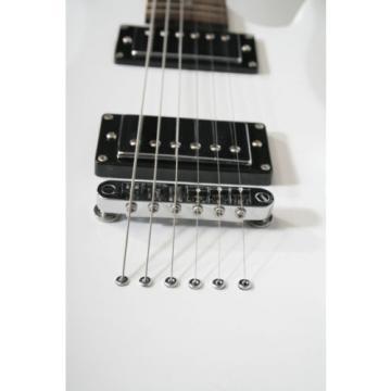 Minerva-WH, E-Gitarre, Korpus: Linde massiv, Hals: Ahorn, MH&PU Wilkinson, weiss