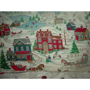 CHRISTMAS VINTAGE THROW PILLOW-TOWN SCENE- LINDE PRODUCTS-EX-CELL  HOME FASHIONS