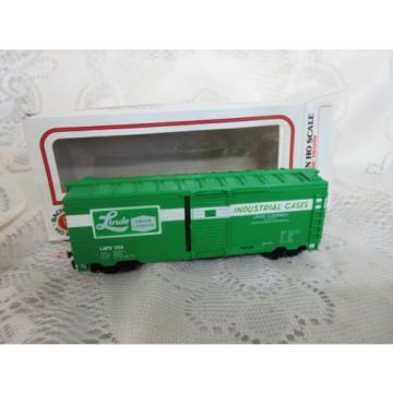 Life Like HO Linde Industrial Cases Green Box Car Original Box