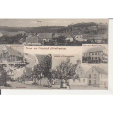 Münchhof - Wirtschaft Dorfstraße Schule Linde Wohnhaus feldpgl1916 228.455