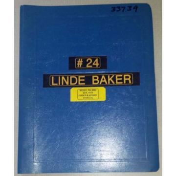 1993 Linde Baker Electric Pallet Truck Parts Manual  (Inv.33739)