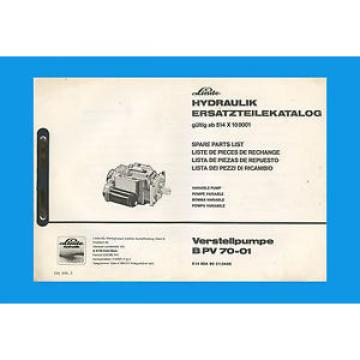 Linde Verstellpumpe B PV 70-01  Ersatzteilkatalog