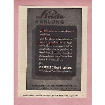SÜRTH-KÖLN, Werbung 1942, Gesellschaft Linde Kühlung Eis-Maschinen AG