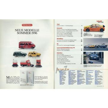 Zeitschrift Modell Fahrzeug 4 96 1996 Coca Cola Fiat 500 Morgan 4/4 Linde E16 VW
