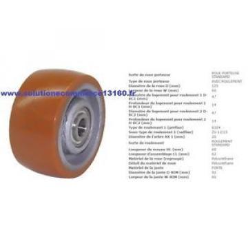 LINDE FENWICK 0009933821 ROUE GALET STABILISATRICE 125 60 62 20 mm TRANSPALETTE