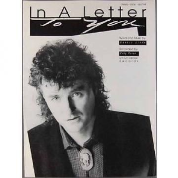 IN A LETTER TO YOU Dennis Linde EDDY RAVEN Sheet Music PIANO VOCAL GUITAR