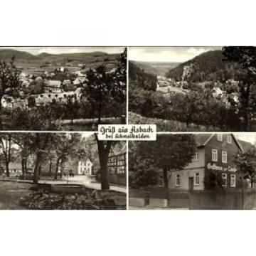 Ak Asbach Schmalkalden, Gasthaus zur Linde, Stadtpanorama, Allee - 1550818