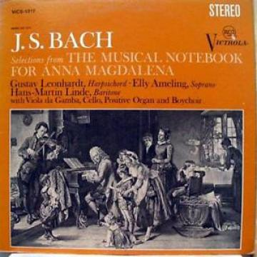 LEONHARDT AMELING LINDE bach selections from musical notebook LP VG+ VICS 1317